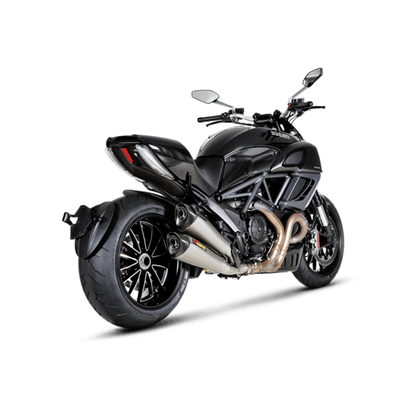 ducati diavel akrapovic onlineshop slip on titan. Black Bedroom Furniture Sets. Home Design Ideas
